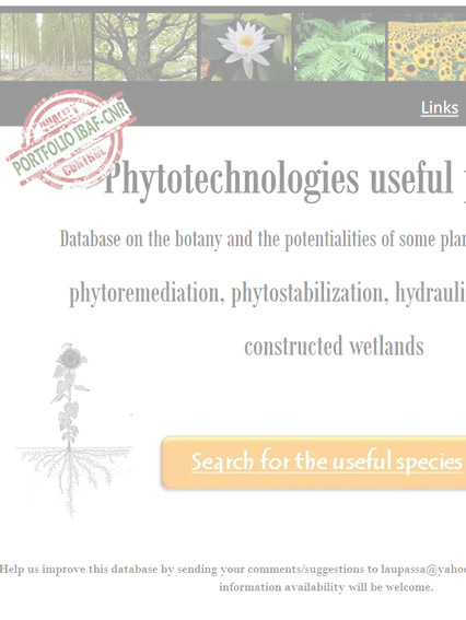 phytoremediaton database